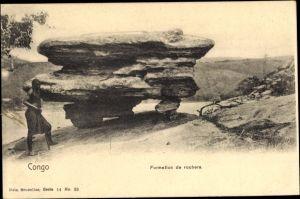 Ak Demokratische Republik Kongo Zaire, Formation de rochers, indigene