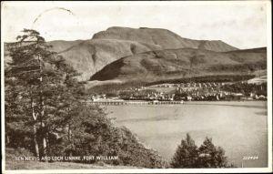 Ak Fort William Schottland, Ben Nevis, Loch Linnhe
