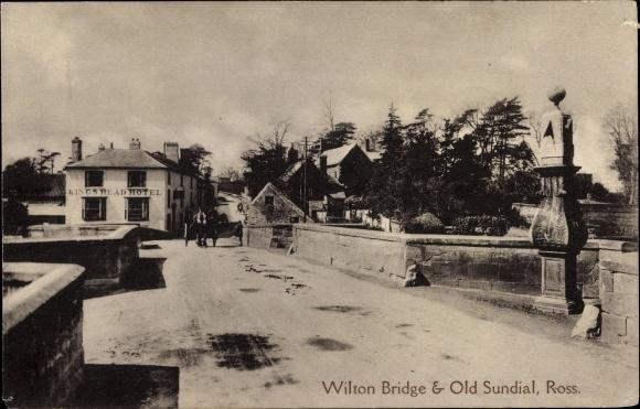 Ak Ross on Wye Herefordshire England, Wilton Bridge, Old Sundial