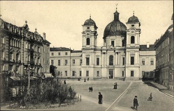 Ak Salzburg in Österreich, Makartplatz, Kirche