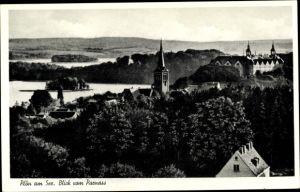 Ak Plön in Schleswig Holstein, Blick vom Parnass