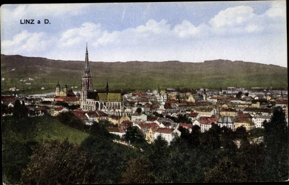 Ak Linz in Oberösterreich, Panorama