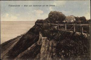 Ak Travemünde Lübeck Schleswig Holstein, Blick vom Seetempel auf die Ostsee