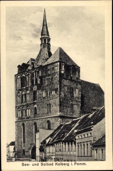 Ak Kołobrzeg Kolberg Pommern, Gebäude