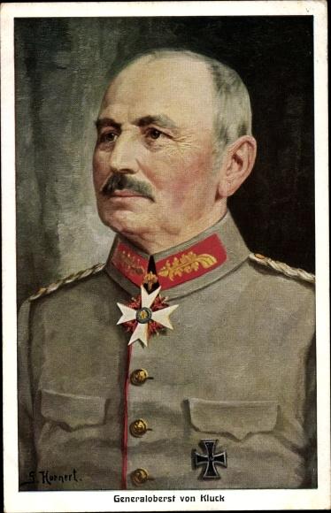 Künstler Ak Hornert, Generaloberst Alexander von Kluck, Orden, Eisernes Kreuz