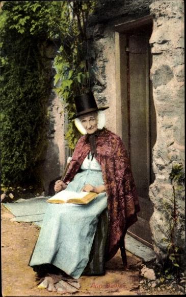 Ak Ann Davies, Frau in Walisischer Tracht, Buch
