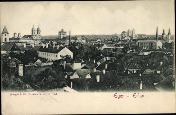 Ak Eger Erlau Ungarn, Panorama