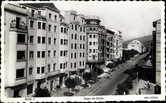 Ak Irún Irun Baskenland Spanien, Paseo de Colón