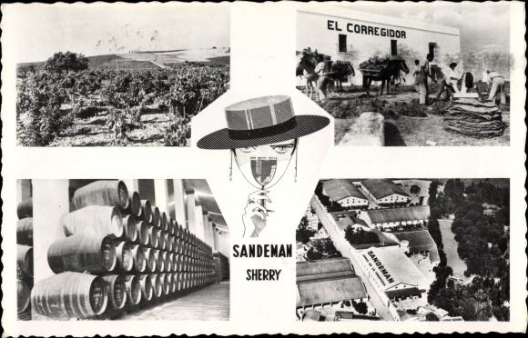 Ak Jerez de la Frontera Andalusien Spanien, Sandeman Sherry, Vineyards and Bodegas, El Corregidor