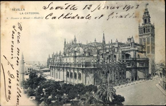 Ak Sevilla Andalusien Spanien, La Catedral
