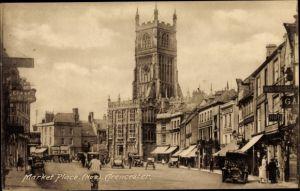 Ak Cirencester Gloucestershire England, Market Place