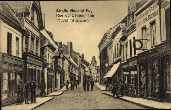 Ak Ham Somme, Straße General Foy