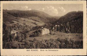 Ak Duszniki Zdrój Bad Reinerz Schlesien, Blick ins Schmelzetal