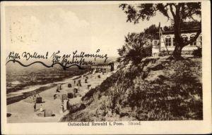 Ak Rewal Rewahl Pommern, Strand, Hotel