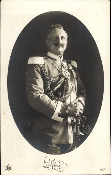 Passepartout Ak Kaiser Wilhelm II., Portrait in Uniform, Orden