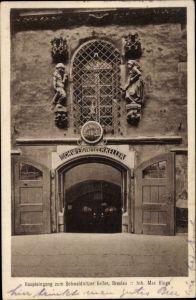 Ak Wrocław Breslau Schlesien, Haupteingang zum Schweidnitzer Keller