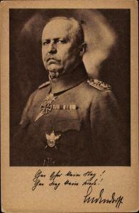 Ak General Erich Friedrich Wilhelm Ludendorff