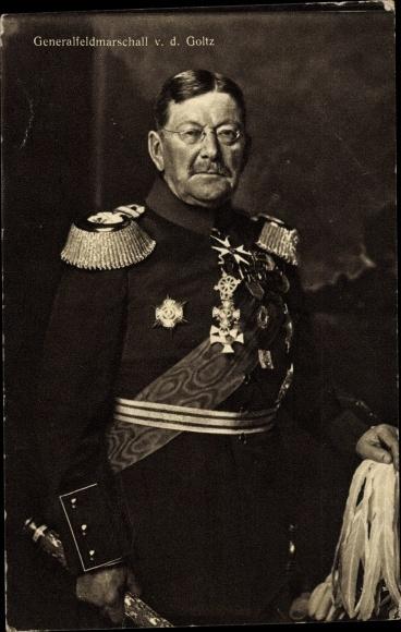 Ak Generalfeldmarschall Colmar von der Goltz, Orden