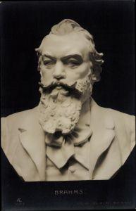 Ak Plastiken, Büste Johannes Brahms, Deutscher Komponist