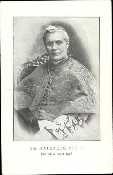 Ak Papst Pius X., Giuseppe Melchiorre Sarto, Portrait