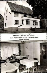 Ak Neunkirchen Rheinland Pfalz, Privatpension Klipp, Außenansicht, Inneres