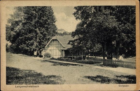 Ak Langenschwalbach Bad Schwalbach im Rheingau Taunus Kreis, Partie am Golfplatz