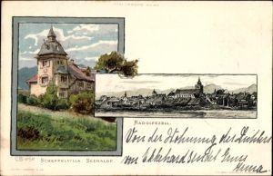 Künstler Litho Biese, C., Radolfzell am Bodensee Landkreis Konstanz, Scheffelvilla Seehalde
