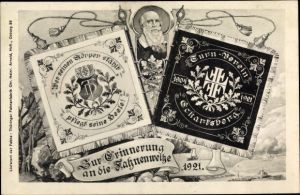 Ak Eckartsberga an der Finne im Burgenlandkreis, Turnverein, Fahnenweihe 1921, Turnvater Jahn