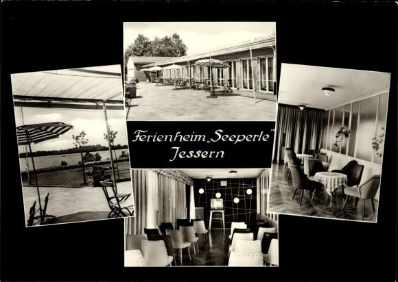 Ak Jessern Schwielochsee Brandenburg, Ferienheim Seeperle, Innenansicht, Fernsehgerät