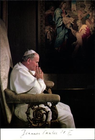 Ak Papst Johannes Paul II., Karol Józef Wojtyla, Portrait