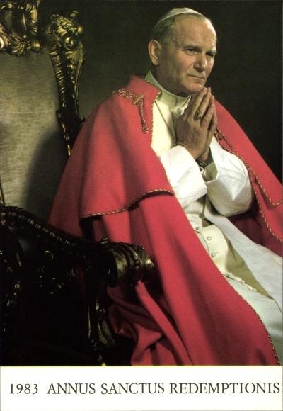 Ak Papst Johannes Paul II., Karol Józef Wojtyla, Portrait, 1983 Annus Sanctus Redemptionis