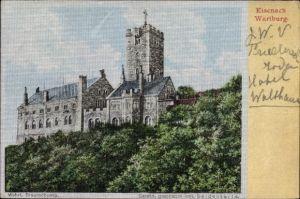Ak Lutherstadt Eisenach in Thüringen, Blick auf die Wartburg