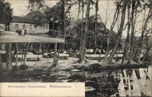 Ak Grafenbruch Neu Isenburg im Kreis Offenbach Hessen, Wasserpartie am Waldrestaurant