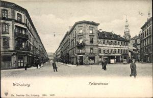 Ak Würzburg am Main Unterfranken, Kaiserstraße