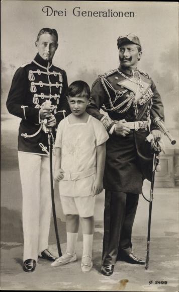 ak f 252 nf generationen kaiser wilhelm ii kronprinz wilhelm wappen rph 5429 nr 1595256