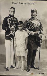 Ak Drei Generationen, Kaiser Wilhelm II. von Preußen, Kronprinz Wilhelm von Preußen