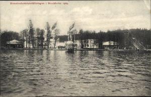 Ak Stockholm Schweden, Konstindustriutställningen 1909, Kunstindustrieausstellung, Wasserrutschbahn
