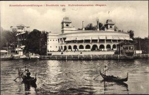 Ak Stockholm Schweden, Konstindustriutställningen 1909, Hufvudrestauranten Bispen, Kunstausstellung