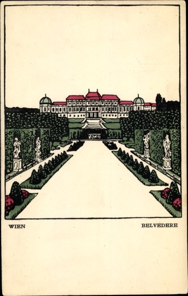 Künstler Ak Wien 3. Landstraße Österreich, Belvedere, Wiener Werkstätten Nr 136 0