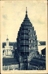 Ak Weltausstellung Paris 1931, Temple d'Angkor Wat, Tour Nord Est