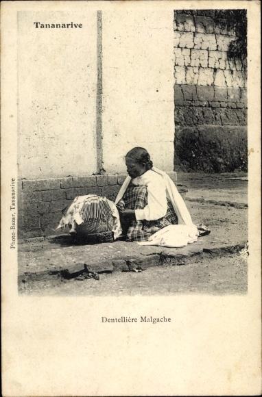 Ak Tananarive Madagaskar, Dentellière Malgache