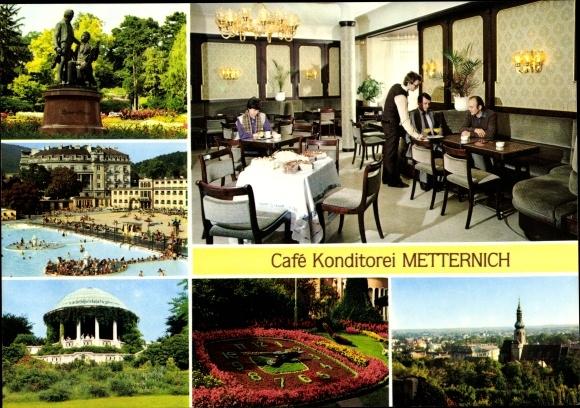 Ak Baden in Niederösterreich, Café Konditorei Metternich, Kaiser Franz Ring 12