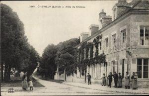 Ak Chevilly Loiret, Allee du Chateau