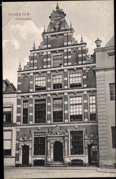 Ak Deventer Overijssel Niederlande, Politiebureau, Haus, Fassade
