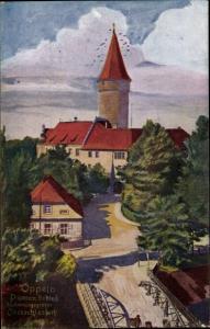 Künstler Ak Opole Oppeln Schlesien, Piastenschloss, Brücke, Abstimmungsgebiet Oberschlesien