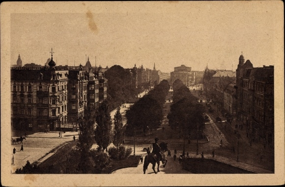 Ak Szczecin Stettin Pommern, Königsplatz