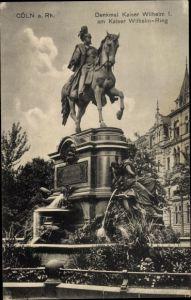 Ak Köln am Rhein, Denkmal Kaiser Wilhelm I am Kaiser Wilhelm Ring
