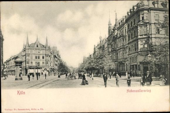 Ak Köln am Rhein, Partie am Hohenzollernring