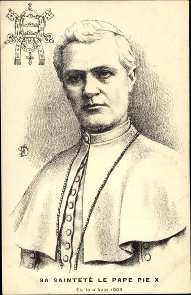 Künstler Ak Papst Pius X., Giuseppe Melchiorre Sarto