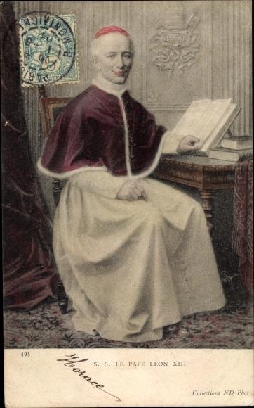 Ak Papst Leo XIII., Vincenzo Gioacchino Pecci